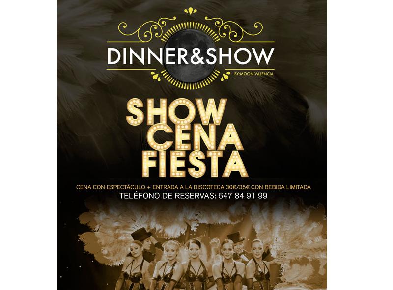 Evento Sala Moon Dinner Show en Valencia- Eventos Grupo Salamandra